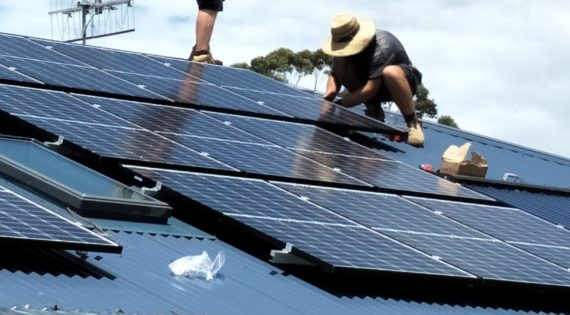 Another family reduces personal carbon emissions by switching to solar energy