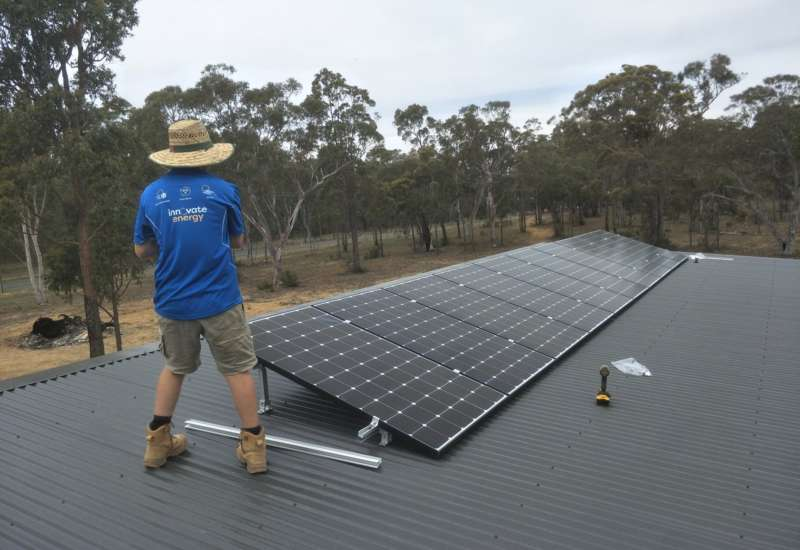 solar energy installation by Innovate Energy