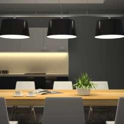 Night view modern interior of dining room 3d PRJ6 G6 A